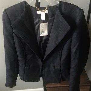 [H&M] Navy Single Closure Blazer